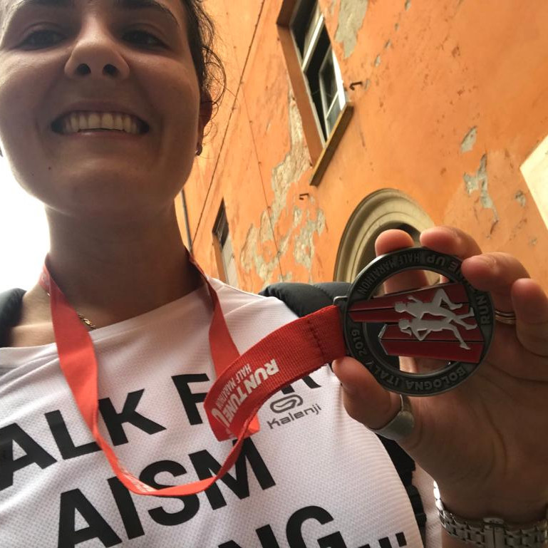 foto di lorena al termine della maratona